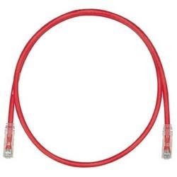 Cordon de brassage, STP, catégorie 6, bottes noires, Pan-Plug fiches modulaires, T568B câblage, veste rouge, 5 pieds de cuivre