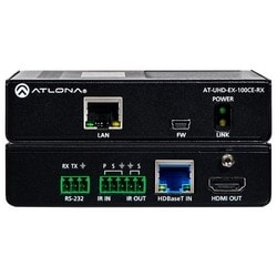 4K/UHD HDMI Over 100 M HDBaseT Receiver with Ethernet, Control, and PoE