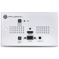 Two-Input UK Wallplate Switcher for HDMI and VGA with HDBaseT Output