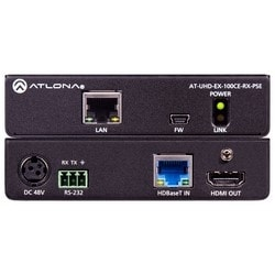 4K/UHD Power Sourcing HDMI Over 100 M HDBaseT Receiver with Ethernet, Control, and PoE