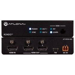 HDMI Distribution Amplifier, 4K HDR, 2-Output, 18 Gbps, 100 to 240 Volt AC/5 Volt DC, 50/60 Hertz, 6 Watt, With EDID Management, 0.4 Lb. Item Weight