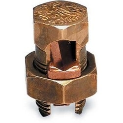 Type H - High Strength Split-Bolt Connector, Conductor Range for Equal Main and Tap 250 kcmil-1 Str, Conductor Range for Min Tap with One Max Main 8 Sol