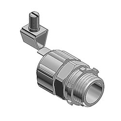 2 Inch Steel External Bonding Liquidtight Connector, Non-insulated, Grounded