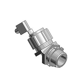 2 Inch 45 Degree Malleable Iron External Bonding Liquidtight Connector, Non-insulated
