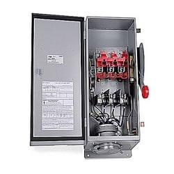 MaxGard Fused Male Plug Disconnect Interlocked Receptacle (Nema 12/3R), 30 Amp, 4 Pole 5 Wire, 30Y 120/208V, 60Hz