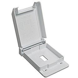 1-Gang Weatherproof Single Switch Box Cover - White