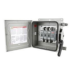 Commutateur de lourds fermé non thermocollant 3-pôle sécurité, 60 AMP, NEMA 3R, acier fiche fournie