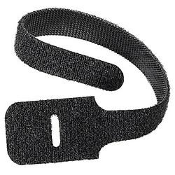 Cable tie, 50 lb, .75x9 in, black Polyethylene/Nylon, FO Loop