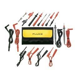 Electronic Test Lead Kit, Includes 1 Meter Long Test Lead, Alligator Clip, Probe Tip Extender, Test Probe, Hook Style Clip, Pinch Style Clip, Probe Tip Adapter, Test Lead Coupler