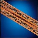 Buried Utility Tape, Orange, Legend TELEPHONE LINE, 6 inch Width, 1000 Feet