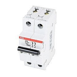 S 200 miniature circuit breaker, 2 poles, 480Y/277 V AC, tripping characteristic K, 15 AMP