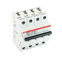 Mini disjoncteur UL200 S1077, 3 pole et neutre K voyage, 13 amp