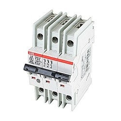 3-pole Miniature Circuit Breaker MCBs - S200UP, Tripping characteristic K, 10 rated current