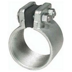 5 Inch Split Coupling, Malleable Iron Zinc Plated With Neoprene Gasket