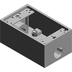 1 Gang FS/FD Corrostall Aluminum, Box, Three (3) Inch Outlet Holes