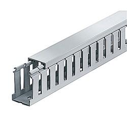 "Wiring Duct Wide Slot 1"" x 1-1/2"" Rigid PVC Gray"