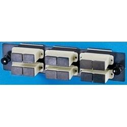 Adapter Panel, 6-SC Duplex, 12-Fiber, Multimode, Beige, Phosphor-Bronze Alignment Sleeve