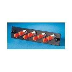 Adapter Panel, 4-ST Duplex, 8-Fiber, Multimode, Beige, Phosphor-Bronze Alignment Sleeve