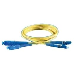 Fiber Optic Patch Cord, Single-Mode, UPC/LSZH, SC to LC Duplex, 2 MM Zipcord, 2 Meter Length, Yellow Jacket