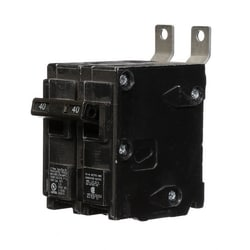 Molded Case Circuit Breaker, Common Trip, Thermal Magnetic, Panelboard Mount, 2 Pole, 120/240 Volt AC, 40A, 10 kA Interrupting Rating