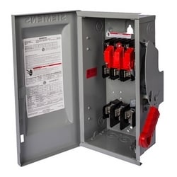 Safety Switch, Enclosed, Single Throw, Heavy Duty, 600 Volt AC, 200A, 4W, 3 Pole, 4 Wire, 3 Fuse, NEMA 1, Steel, For Indoor