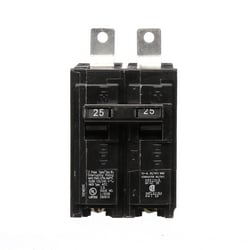 Molded Case Circuit Breaker, Common Trip, Thermal Magnetic, Panelboard Mount, 2 Pole, 120/240 Volt AC, 25A, 10 kA Interrupting Rating