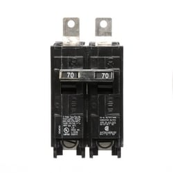 Molded Case Circuit Breaker, Common Trip, Thermal Magnetic, Panelboard Mount, 2 Pole, 120/240 Volt AC, 70A, 10 kA Interrupting Rating