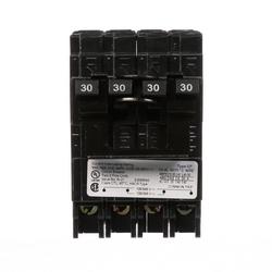 Miniature Circuit Breaker, Common Trip, Thermal Magnetic, Quadplex, Plug-In, EQ Frame, 4 Pole, 120/240 Volt AC, 30A, 10 kA Interrupting Rating