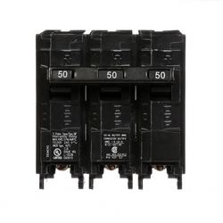 Circuit Breaker, Common Trip, QP/MP, Plug-In, 3 Pole, 240 Volt AC, 50A, 10 kA Interrupting Rating