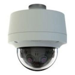 IMM 12 MP 360º IP caméra avec Surevision 2 intérieur vandale pendentif monter Minidome noir microSD Audio alarme relais Pelco Analytique PoE+