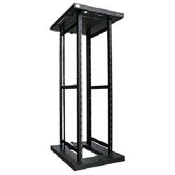 "Server Rack Frame, 600 mm W x 600 mm D x 1202 mm H, 19"" Rail, 24RU, 400 kg Static Load, Powder Coated Textured Matt Black, Zinc Coated Steel"