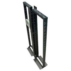"Network Patching Frame, 550 mm W x 375 mm D x 1930 mm H, 19"" Rail, 40RU, 150 kg Static Load, Powder Coated Textured Matt Black, Zinc Coated Steel"