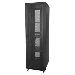 "Server Cabinet, 800 mm W x 960 mm D x 1995 mm H, 19"" Rail, 42RU, 1000 kg Static Load, Powder Coated Textured Matt Black, Zinc Coated Steel"