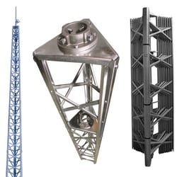 68 foot DMX standard duty tower w/ 244A clamps. DMX towers are packaged complete with CBS concrete base stubs, DM mast, top plate, rotor plate, TMCA clamp assembly and all necessary hardware. Mast not included.