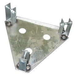 Single Base Plate for GN bracketed tubular tower