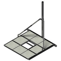 """Our heavy-duty non-penetrating roof mount with 4"""" U-bolts. It's ruggedly constructed, flexible and adaptable, and easy to install. (Mast not included)."""