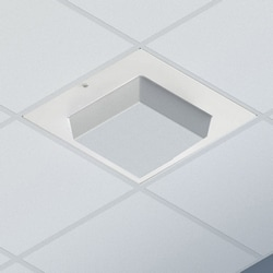 3U Suspended Ceiling Zone Enclosure - Ventilated, Beveled