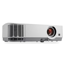 WXGA, LCD, 3300 Lumen Projector w/6,000:1 Contrast with IRIS, 20W speaker, Dual HDMI Inputs, Variable Audio, Closed Captioning and RJ-45