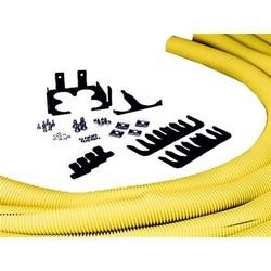 "Fiberguide Quad 2"" Flex Tube Attachment, 4in x 4in, (4) 5Ft Length"