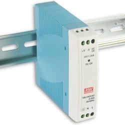 Power Supply, DIN, Slim, Plastic, 10W, 12V