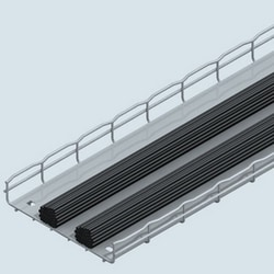 Tray Insert, 23.39in(594mm)W, 58.75in(1.5M)L, Pre Galvanized