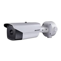 Outdoor network thermal bullet, 640x512, 35mm lens, fire detection, audio in/out, 24VAC/12VDC/HiPoE, 18W