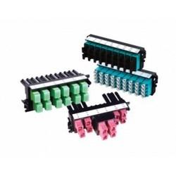 FiberExpress Ultra Frame, 12-Fibers OM3 SC-Duplex Aqua Adapters