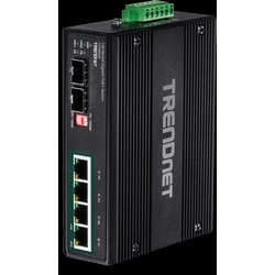6-port Industrial Gigabit PoE+ DIN-Rail Switch 12 - 56 V