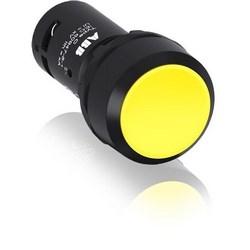 Non Illum, Flush Push Button Maintained, Flush 1NO Contact Yellow