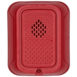 "Horn, Indoor, 12/24 Volt, ?5.6"" Length x 4.7"" Width x 1.25"" Depth, 32 to 120F, Wall Mount, Red"