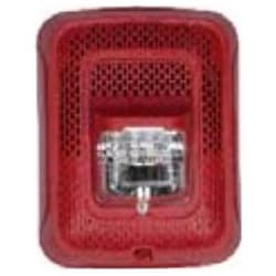 "Speaker Strobe, Indoor, 25/70 Volt Speaker, 12/24 Volt Strobe, 2 Watt, 400 to 4000 Hertz, ?6.5"" Length x 5"" Width x 3.9"" Depth, Wall Mount, Clear Lens, White, Plain"