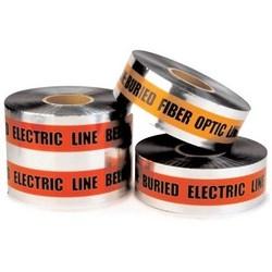 Scotch Detectable Buried Barricade Tape 409, CAUTION BURIED FIBER OPTIC LINE BELOW, 6 in x 1000 ft, Orange