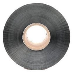 """Barricade Tape, Detectable, Caution Buried High Voltage Cable Below, 6"""" Width x 1000' Length x 5 Mil Thk, Aluminum Foil Backing, Red"""