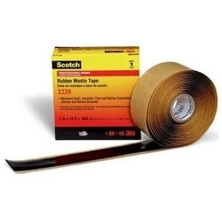 "Mastic Tape, Premium Grade, 1"" Width x 10' Length x 65 Mil Thk, 10 Lb/Inch Breaking Strength, Ethylene Propylene Rubber Backing, Adhesive, Black"
